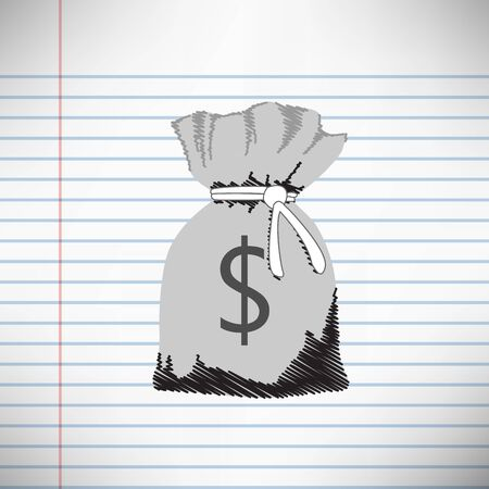 Pocket money on a simple background.