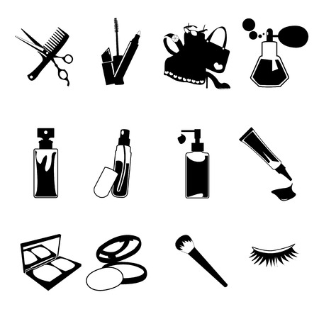 Cosmetic, make up and beauty icons. Stock Vector - 23267225