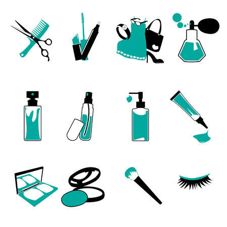 nail file: Cosmetic, make up and beauty icons. Illustration