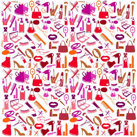 nail file: Cosmetic, make up and beauty icons and background.