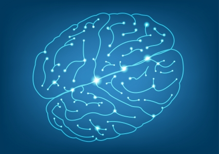 Abstract Left and Right brain function illustration