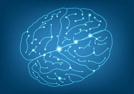 抽象的な左と右の脳機能の図