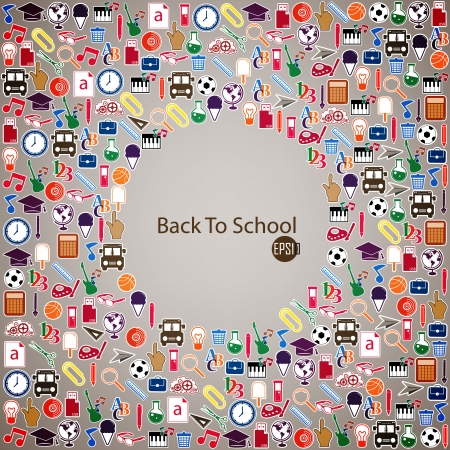 Back to School Seamless icons Vector