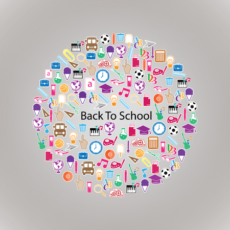Back to School Circle Seamless design Vector