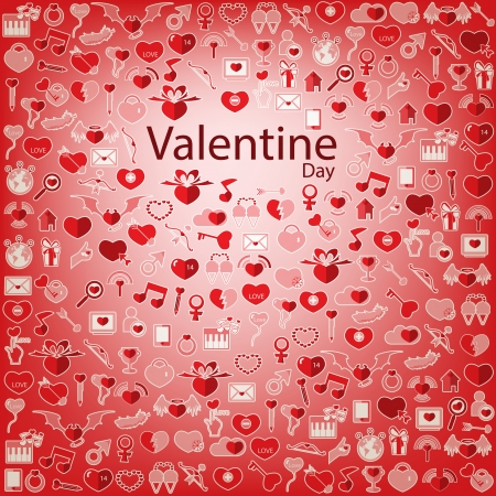 Template Background Valentine's day, Love icon Vector