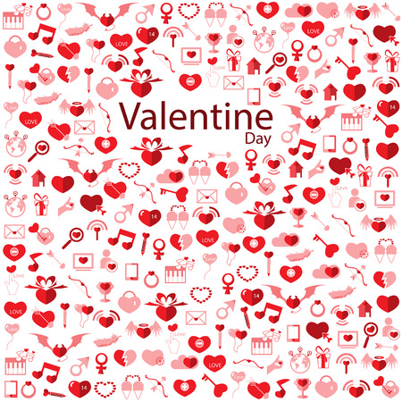 Template Background Valentines day, Love icon Vector