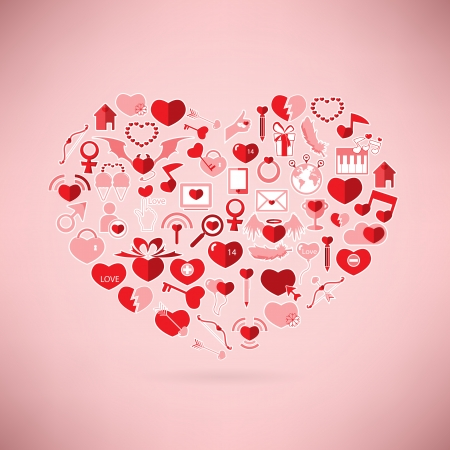 The Heart Valentines day, Love icon Vector