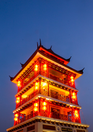 descendants: Observatory tower chinese style at Dragon Descendants Museum in Suphan Buri