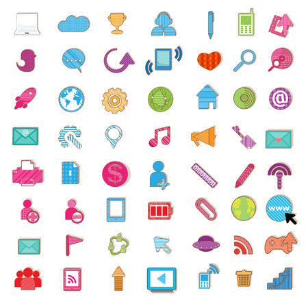 Social color Media color Icon, Network Vector Vector