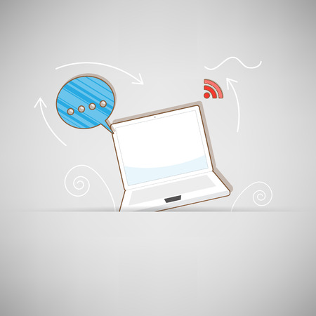connectivity: connectivity icons over background vector illustration