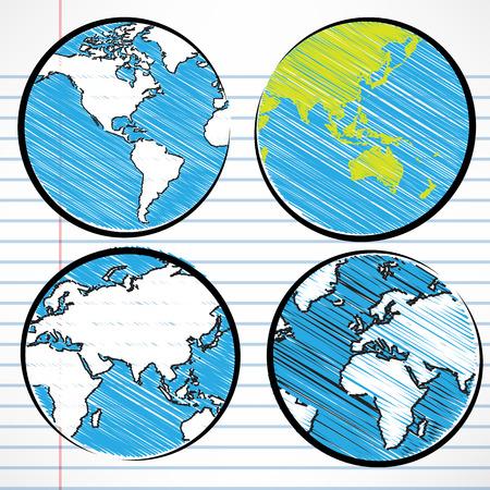 earth in hand: El planeta Tierra escritura a mano mapa del mundo