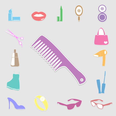 Cosmetic, make up and beauty icons. Stock Vector - 26764293