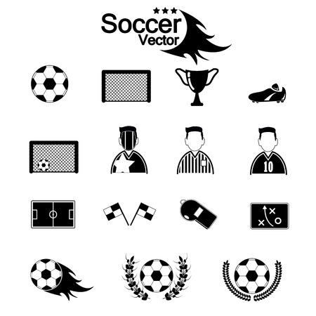goal cage: Soccer Icons set. Illustration eps10