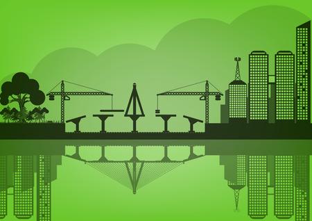 epoch: vector black cities silhouette urban concept epoch Illustration
