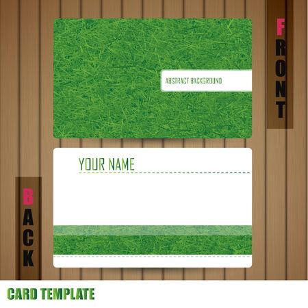 businesscard: Modern grass Business-Card Set