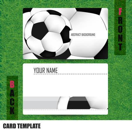 businesscard: Modern Soccer Business-Card Set