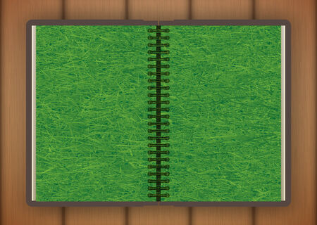 open book with grass. illustrated concept