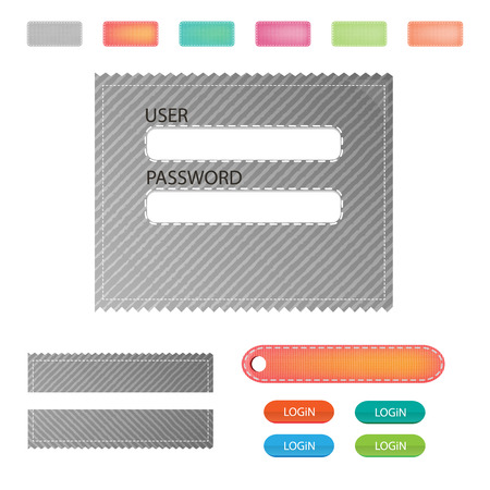 Set Vector login background Vector