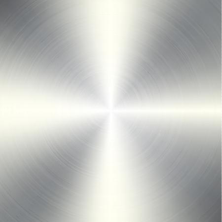 brushed aluminum: High contrast circular brushed aluminum texture Illustration