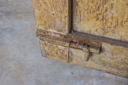 hasp: Hasp on the door Old.