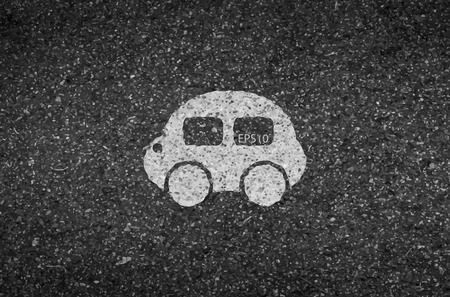 tarmac: Car road and asphalt background texture with some fine grain in it of vector