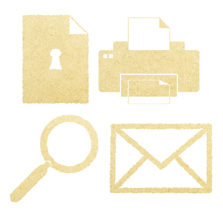 office paper: Office Paper Icon Set
