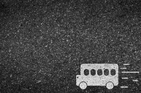Bus road and asphalt background texture with some fine grain in it of vector Vector