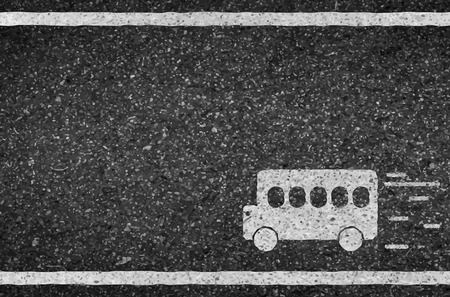 Bus road and asphalt background texture with some fine grain photo