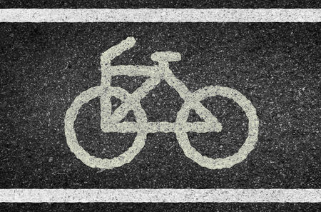 tarmac: Bicycle road sign and arrow of illustration