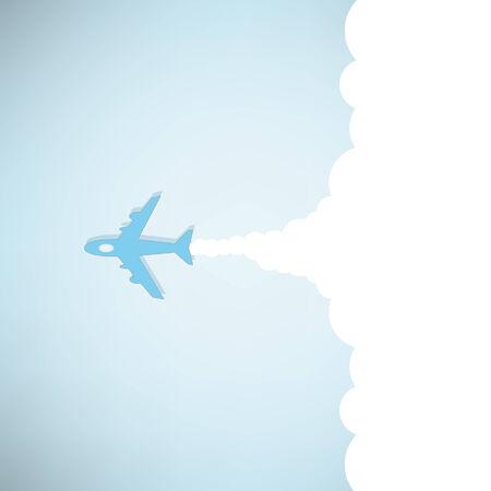 avion caricatura: historieta plana lanzamiento Vectores
