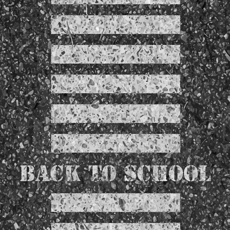 road safety: Back to school. Road safety concept. Illustration