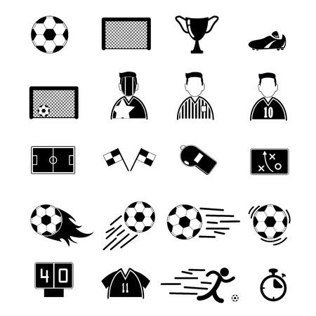 goal cage: Soccer Icons set. Illustration