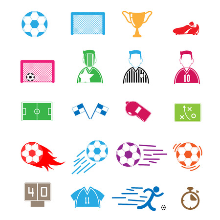 goal cage: Soccer Icons set.
