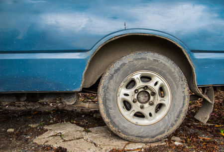 fourwheeldrive: tyre on an off road vehicle Stock Photo