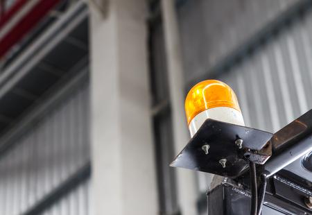 Emergency light on Forklift photo