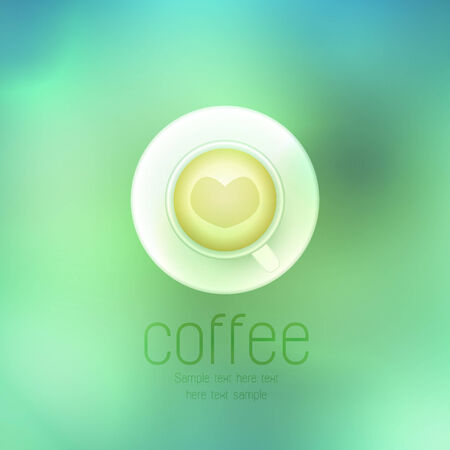 Vector coffee cup against on abstract background Vector