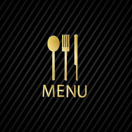 fork and knife recycled Black pattern old paper background Vector