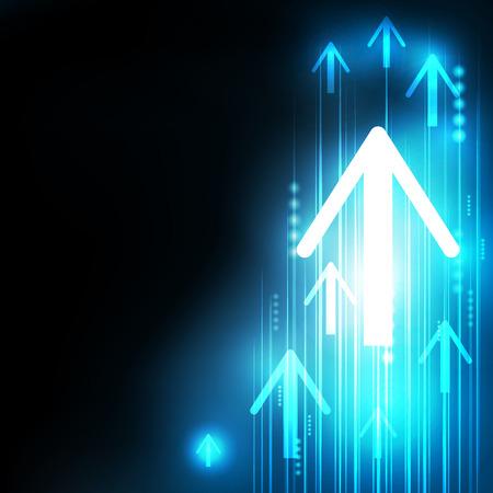 Abstract Blue Arrows technologie communiceren achtergrond, vector illustratie