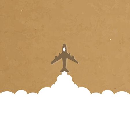 avion caricatura: dibujos animados avi�n lanzamiento el patr�n de fondo antiguo de papel