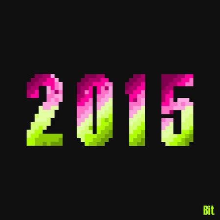 8 bit: 2015 estilo de 8 bits Vectores