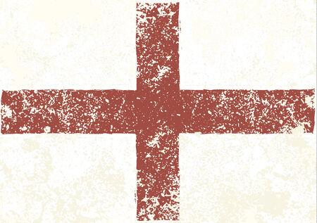 drapeau anglais: Drapeau anglais cru grunge abstrait Banque d'images