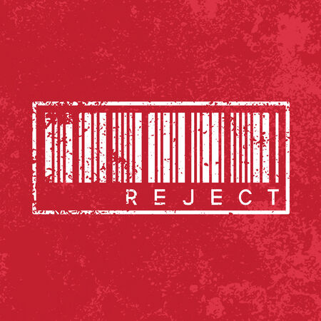 reject: reject vintage abstract grunge red background, illustration Stock Photo