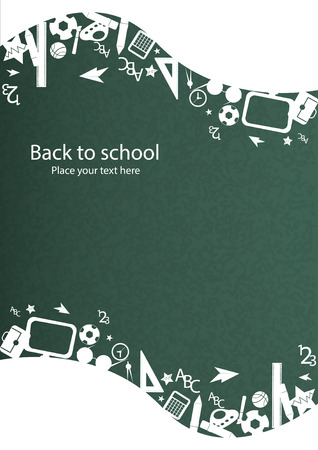 seamless pattern with colorful school icons on background with media icons Illustration