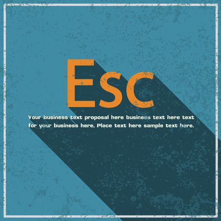 esc: esc abstract grunge blue background, vector illustration Illustration