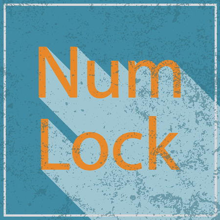 num: num lock abstract grunge blue background, vector illustration