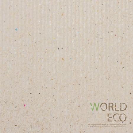 mapa del mundo del arte de papel reciclado palo sobre fondo blanco