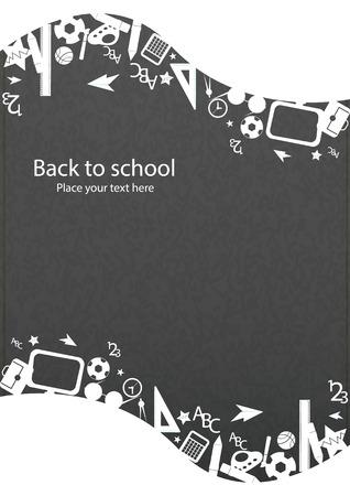 Nahtlose Muster mit bunten Schule-Ikonen auf den Hintergrund mit Media icons Standard-Bild - 31696109