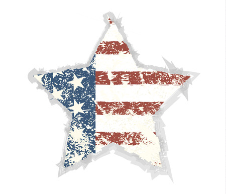 american flag background: Star Grunge American flag background.