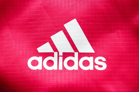 adidas: October 2014 - BERLIN: the logo of the brand cloth bags Adidas,