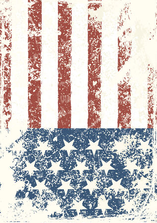american flag background: Grunge American flag background. Vector illustration, EPS 10